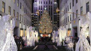 ニューヨーク・ロックフェラーセンターのクリスマスツリー