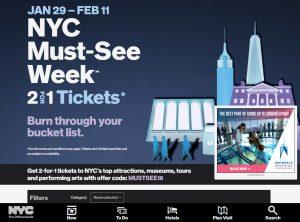 ニューヨーク市観光局、キャンペーンサイト